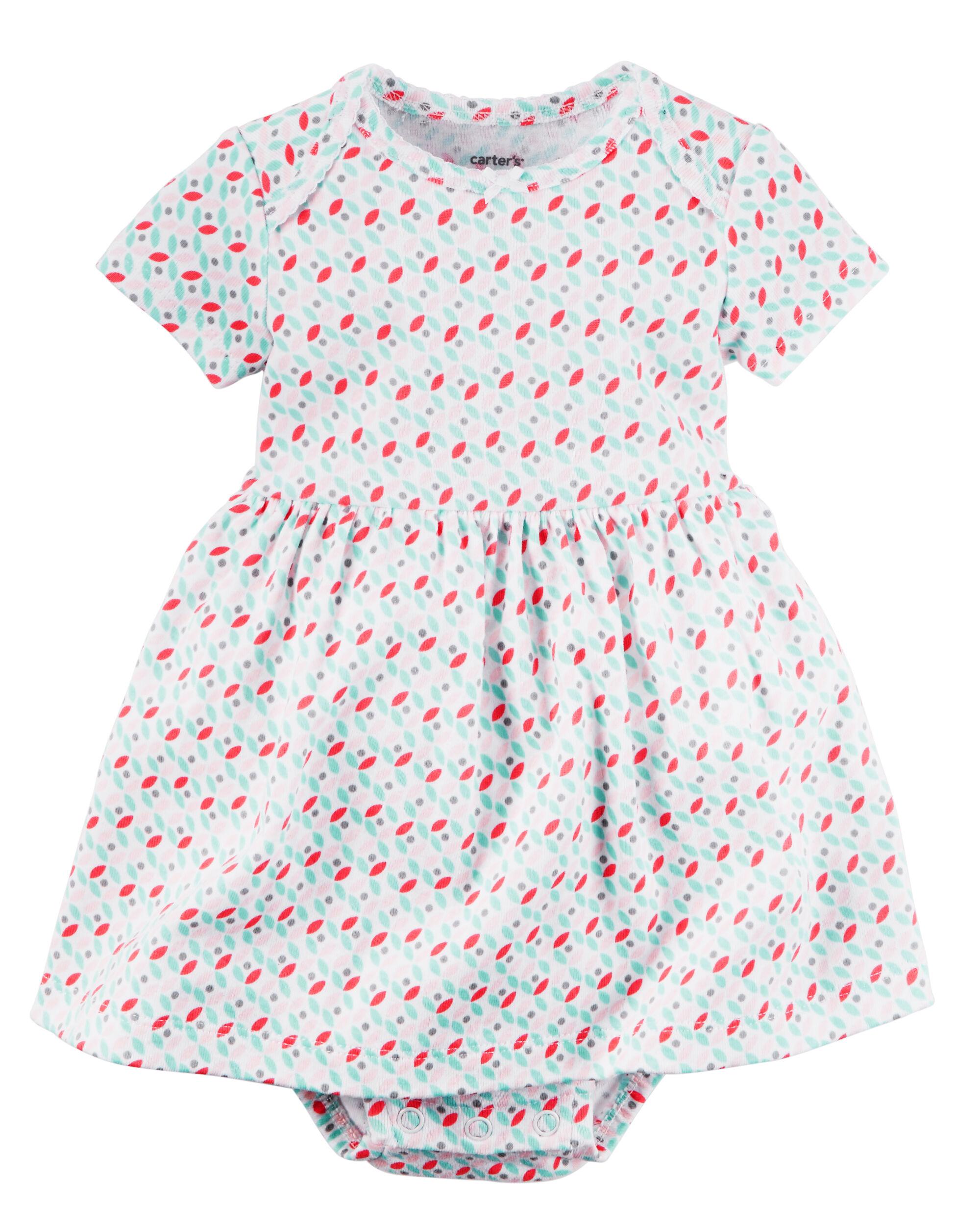 Baby Girl 2 Piece Babysoft Bodysuit Dress & Cardigan Set