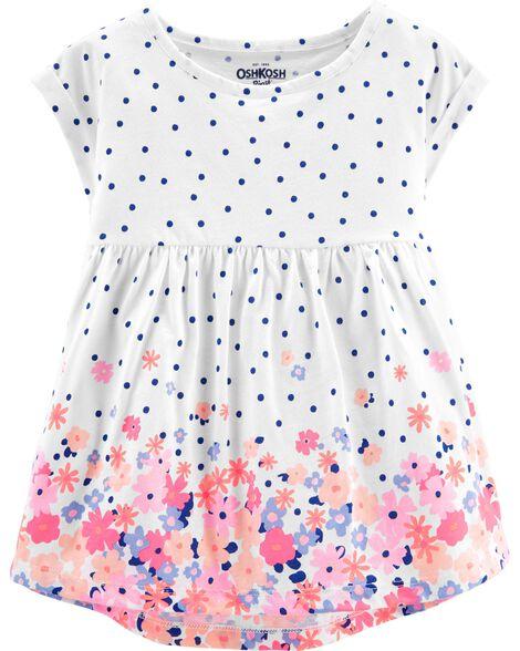 Polka Dots & Floral Tunic