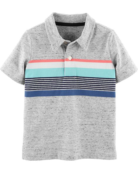Striped Jersey Polo