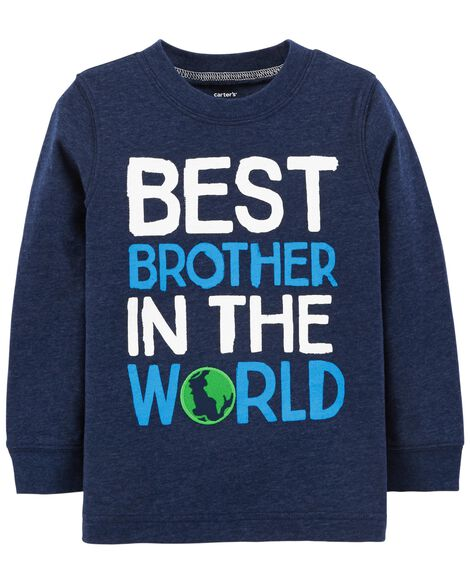 Toddler Boy Best Brother Snow Yarn Terrific Tee