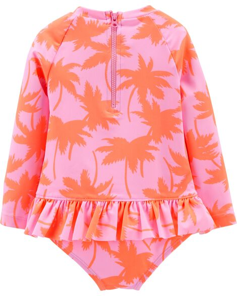 OshKosh Palm Tree Rashguard Bodysuit