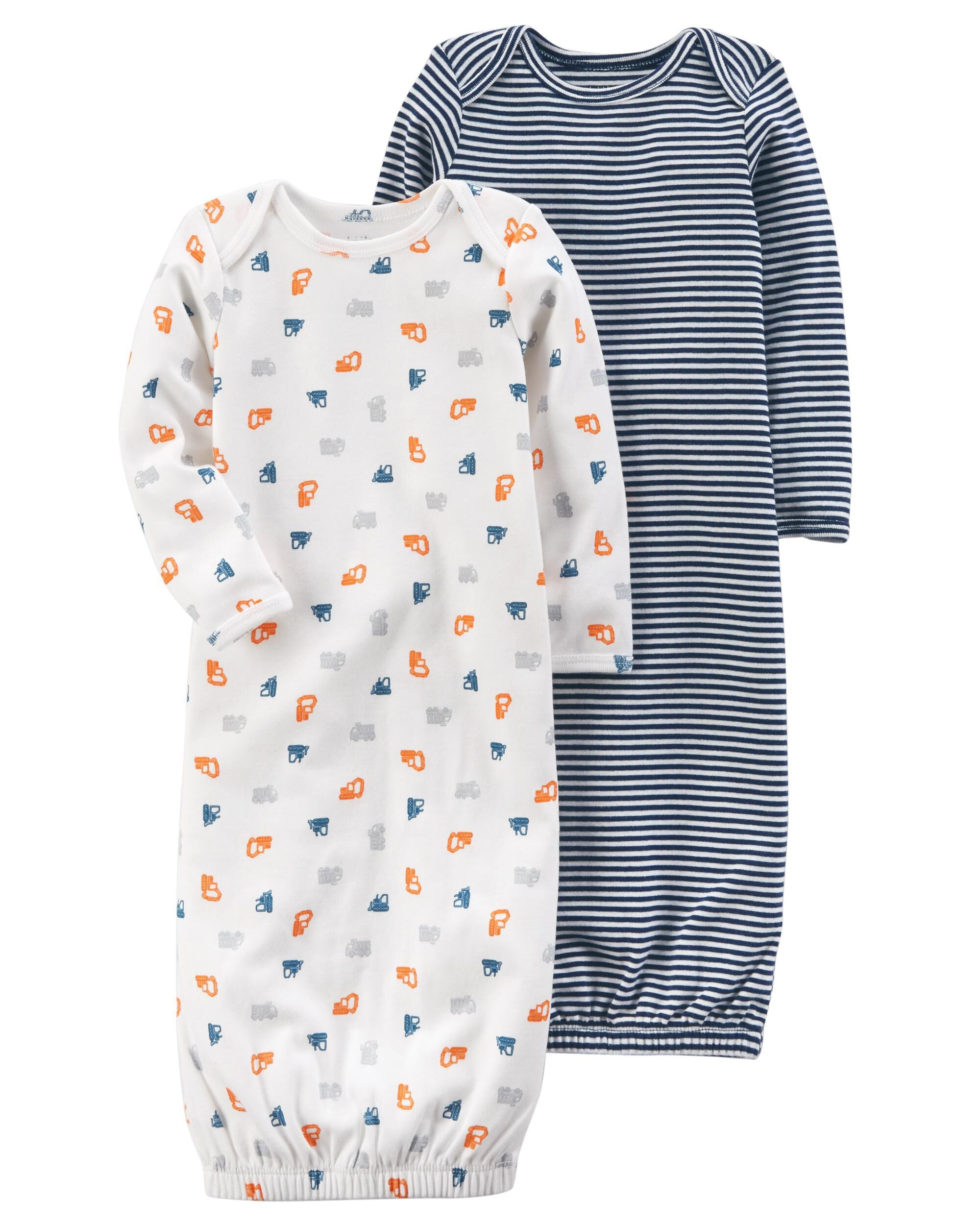 Baby Boy 2-Pack Certified Organic Sleep Gowns | Carters.com