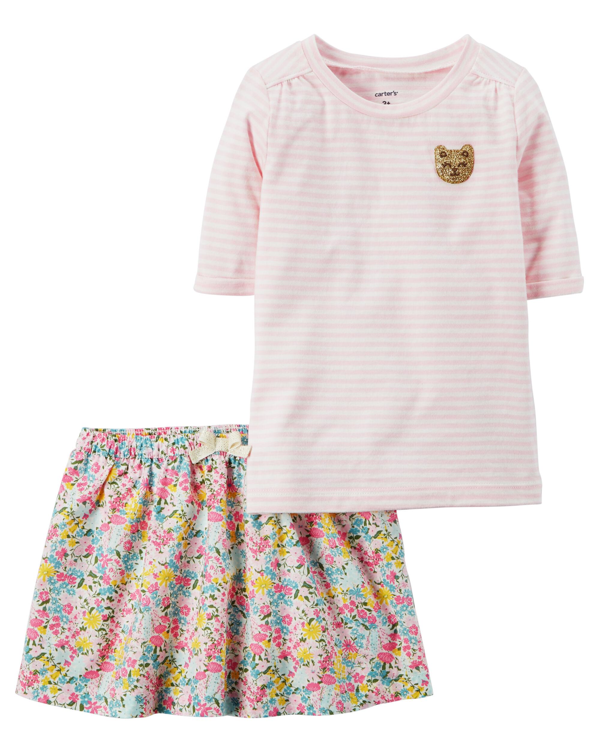 OshKosh Bgosh Little Girls 2-Piece Skort Set