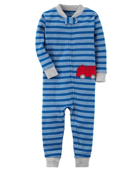 5f8890c68 Baby Boy 1-Piece Certified Organic Snug Fit Cotton Footless PJs ...
