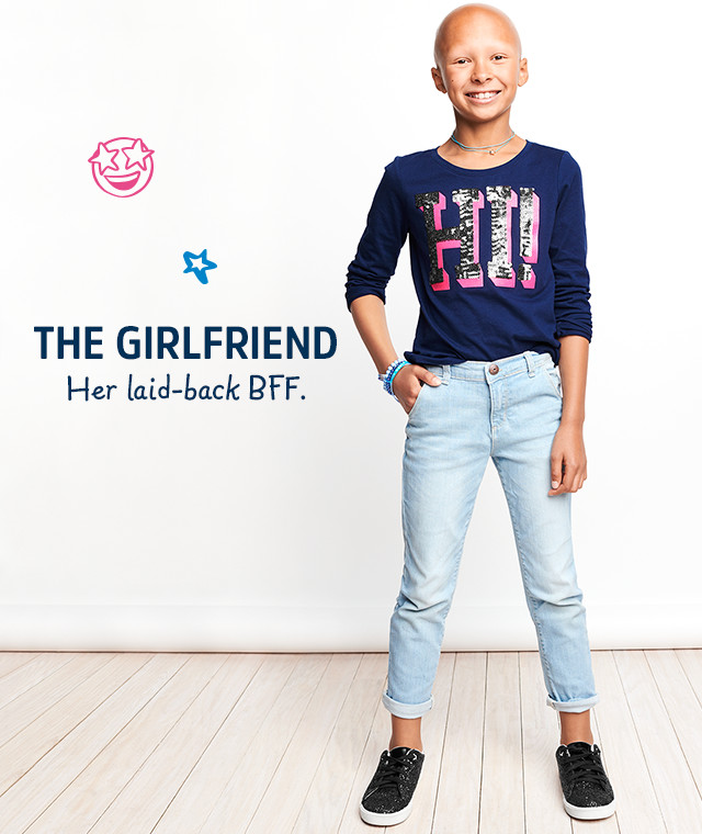 THE GIRLFRIEND | Her laid-back BFF.