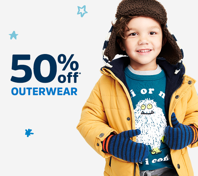 50% off* OUTERWEAR | Use your coupon, too!