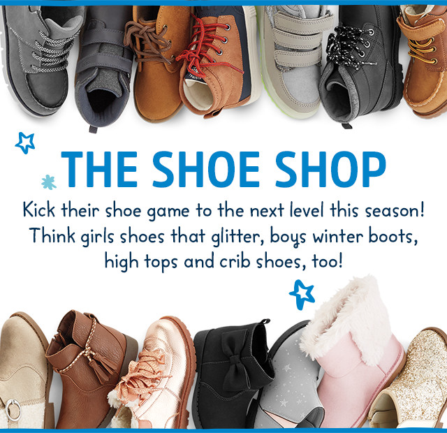 THE SHOE SHOP | Kick their shoe game to the next level this season! Think girls shoes with glitter and emojis, high tops for boys, kids sneakers and crib shoes, too!