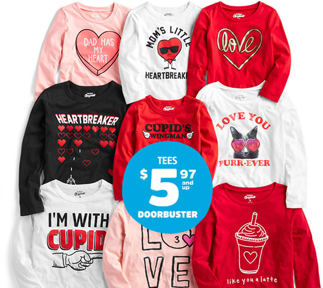 TEES $5.97and up DOORBUSTER