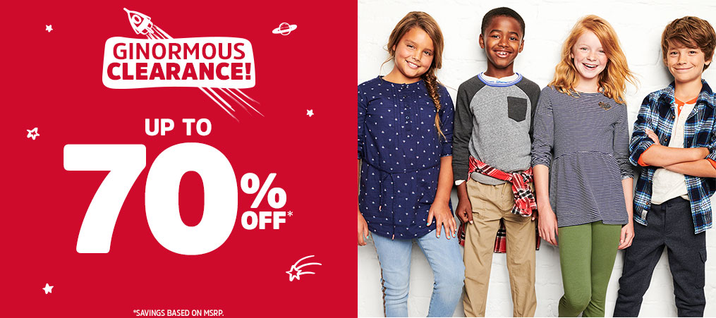 GINORMOUS CLEARANCE! UP TO 70% OFF* | *SAVINGS BASED ON MSRP