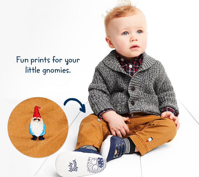 Fun prints for your little gnomies.