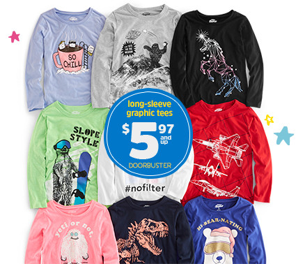 tops or jeggings $4.97 and up doorbuster