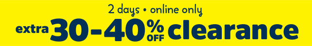 2 days online only extra 30-40% off clearance