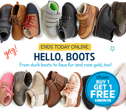 ENDS TODAY ONLINE | HELLO, BOOTS | From duck boots to faux fur and rose gold, too! yay! | shoes BUY 1 GET 1 FREE◊ DOORBUSTER