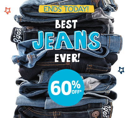 ENDS TODAY! BEST JEANS EVER 60% OFF*