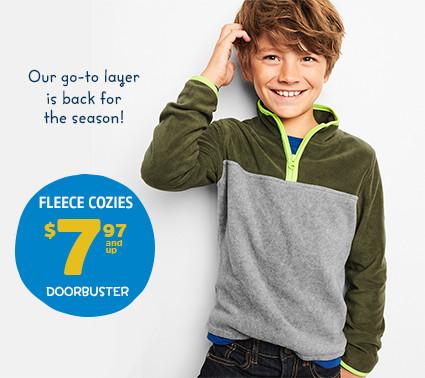 FLEECE COZIES $7.97 and up DOORBUSTER