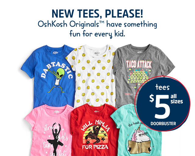 43ed46626bd NEW TEES, PLEASE! | New OshKosh Originals™ have something fun for every kid