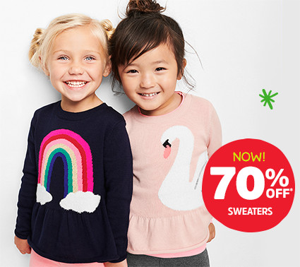 NOW! 70% OFF* SWEATERS