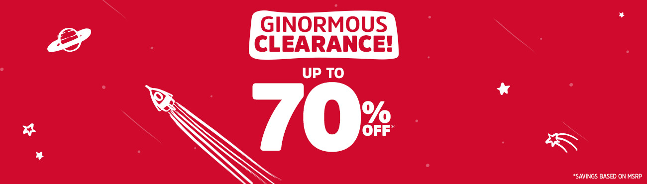 GINORMOUS CLEARANCE! UP TO 70% OFF* | *SAVINGS BASED ON MSRP.