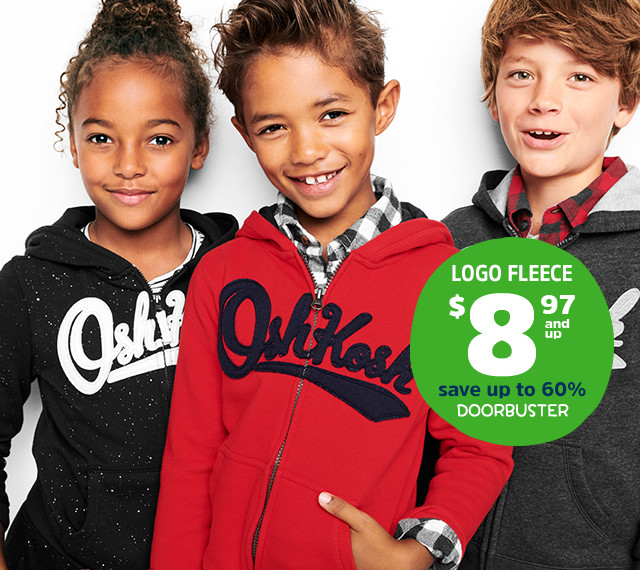 LOGO FLEECE $8.97 and up | save up to 60% | DOORBUSTER