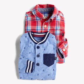 baby babies boy boys 2 piece outfit 0-3m 12-18m 3-6 m navy red white shirt