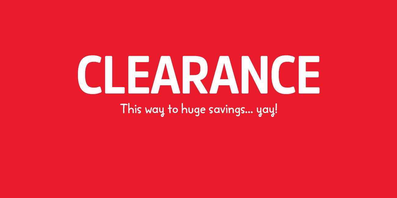 574333db29 CLEARANCE