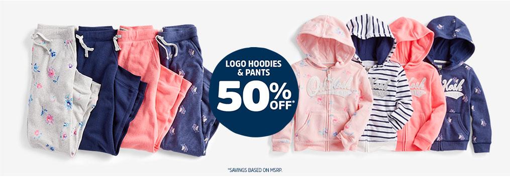 LOGO HOODIES & PANTS 50% OFF* | *SAVINGS BASED ON MSRP.