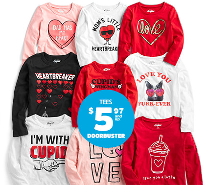 TEES $5.97 and up DOORBUSTER