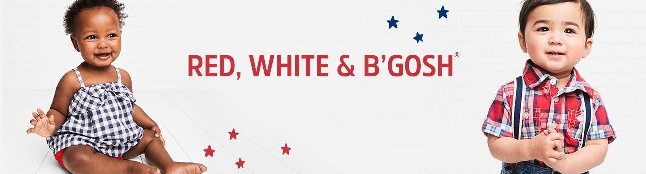 RED, WHITE AND B'GOSH