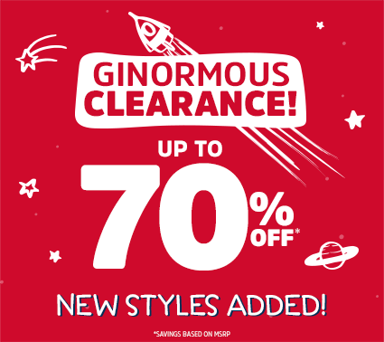 GINORMOUS CLEARANCE! UP TO 70% OFF* | NEW STYLES ADDED! | *SAVINGS BASED ON MSRP.