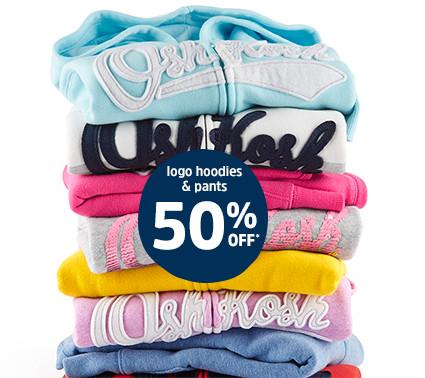 logo hoodies & pants 50% off*