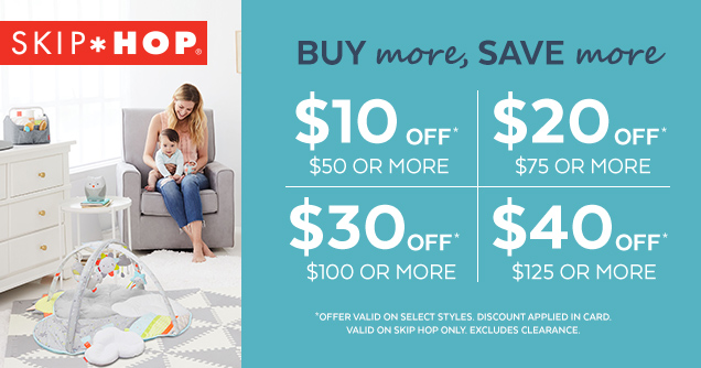 skip hop | buy more, save more | diaper bags, on the go, activity gyms and nursery and gear | online only