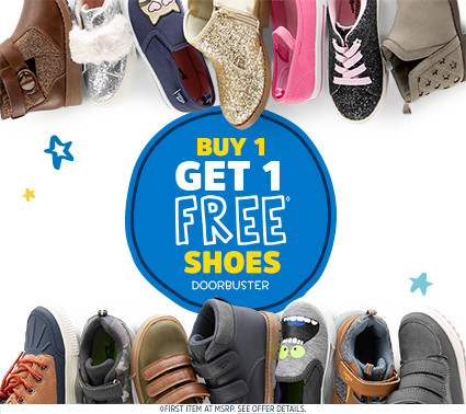 BUY 1 GET 1 FREE◊ SHOES DOORBUSTER | ◊FIRST ITEM AT MSRP. SEE OFFER DETAILS.