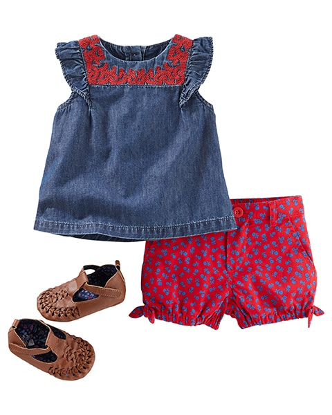 Baby & Newborn Girl Clothes | Free Shipping | OshKosh