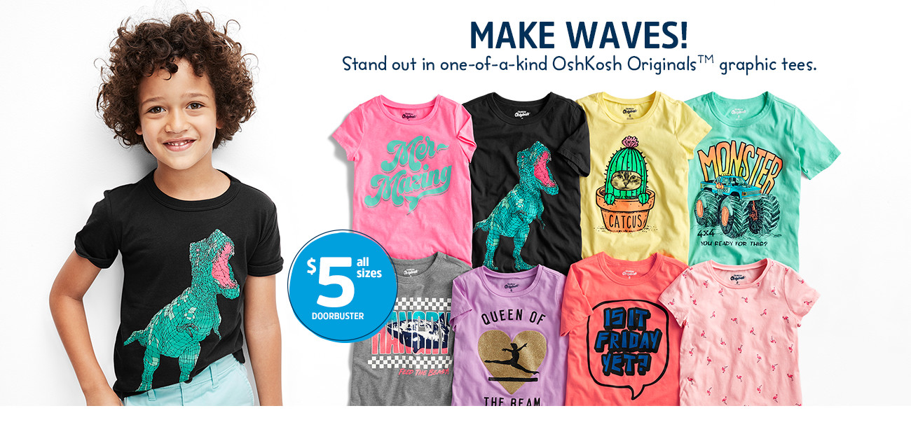 d55382b46c67 MAKE WAVES! Standout in one-of-a-kind OshKosh Originals™ graphic