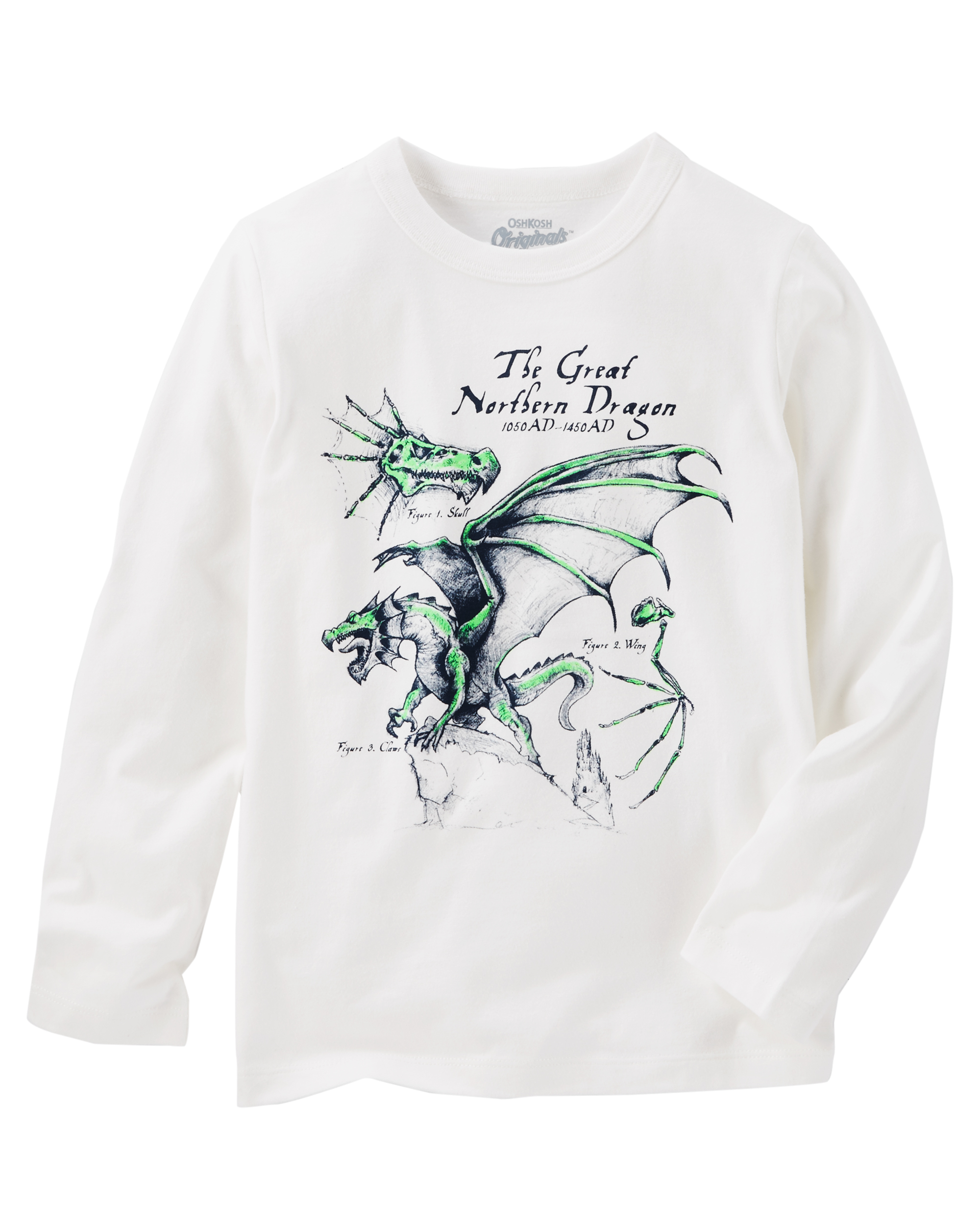 Boys Long Sleeve Top Tee Shirt t Toddler  Graphic Dragon Size 2T New Clearance