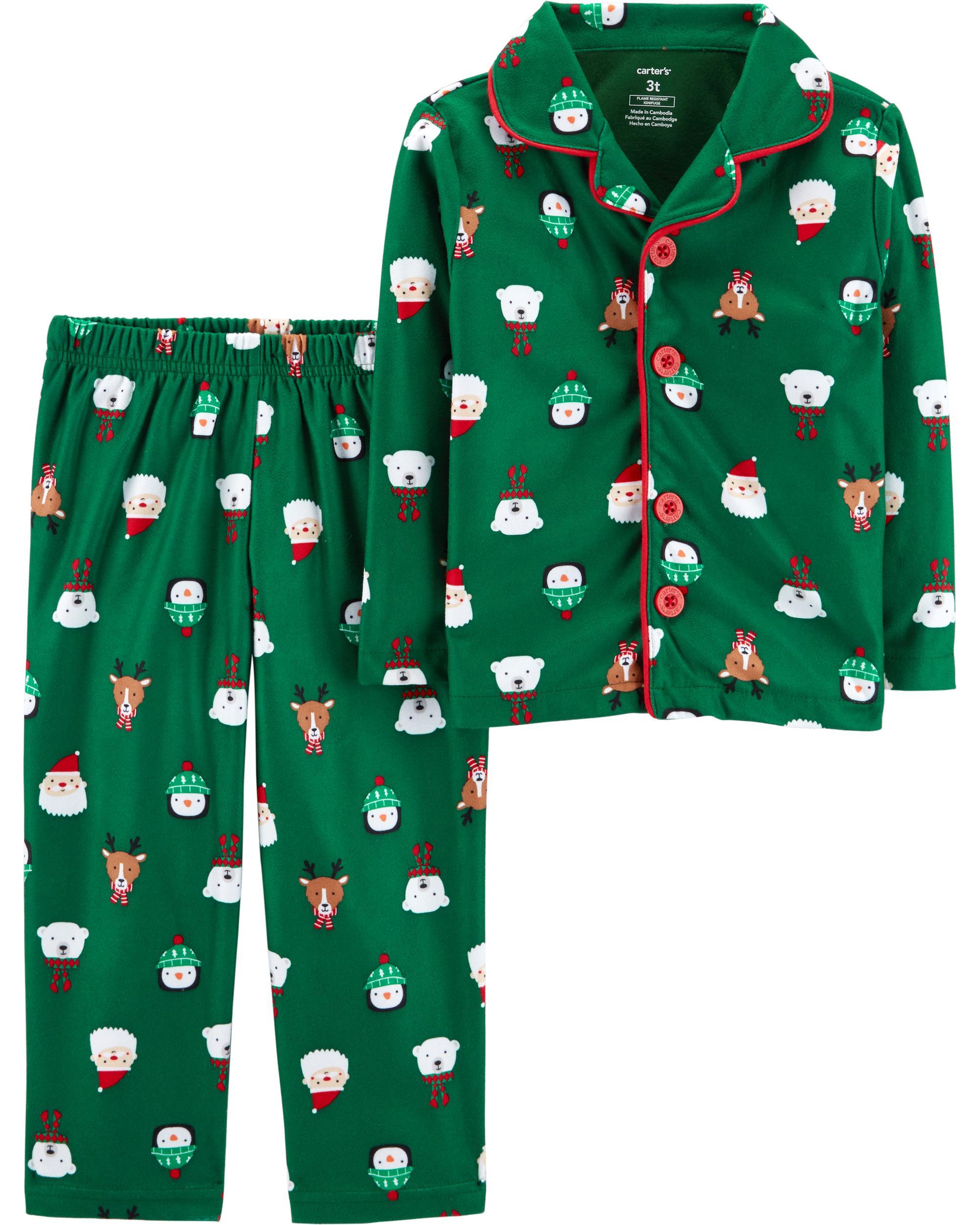 Toddler Christmas Pajamas.2 Piece Toddler Christmas Lightweight Fleece Pjs Oshkosh Com