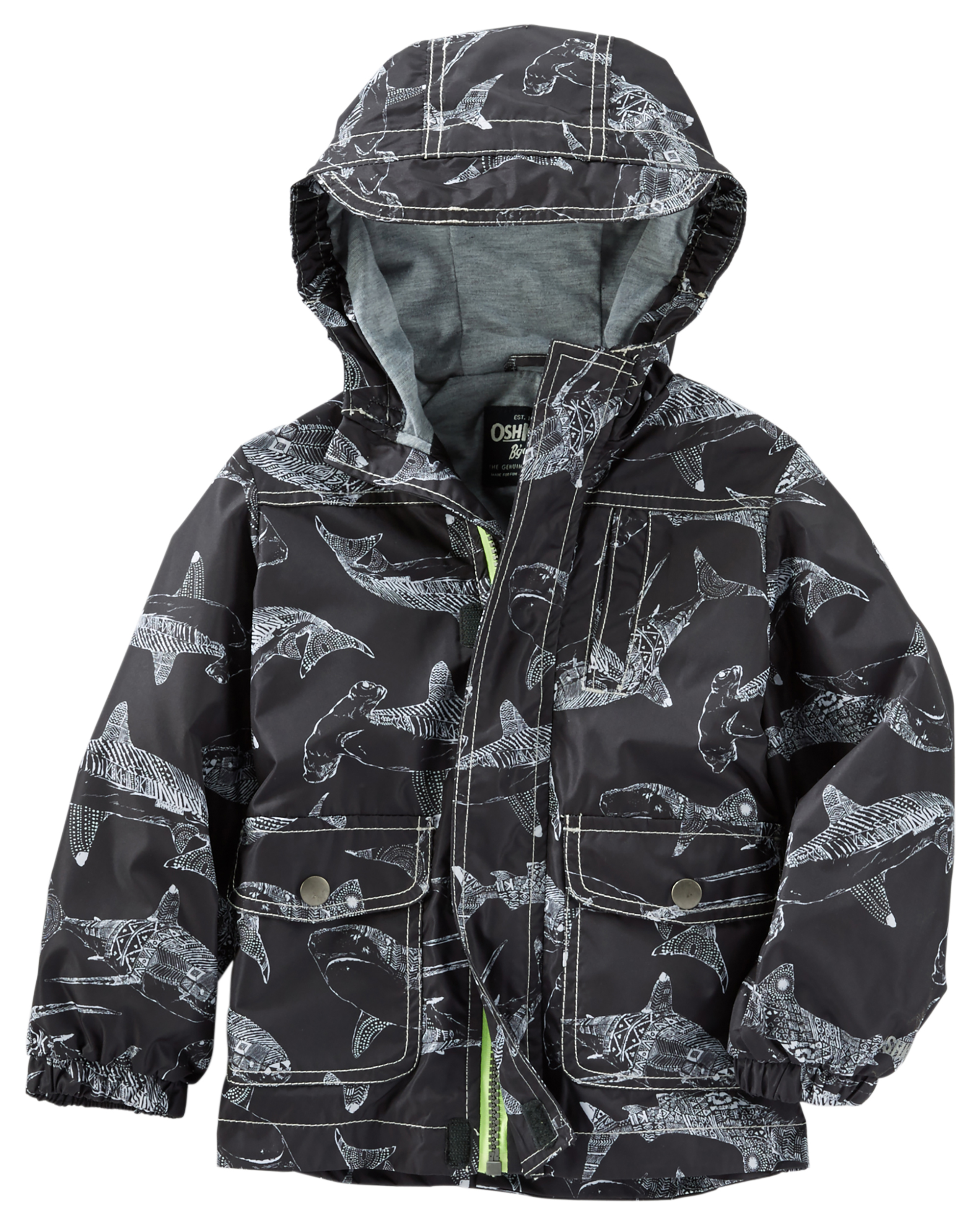 new style 142a5 e033c OshKosh Jersey-Lined Rain Jacket | oshkosh.com