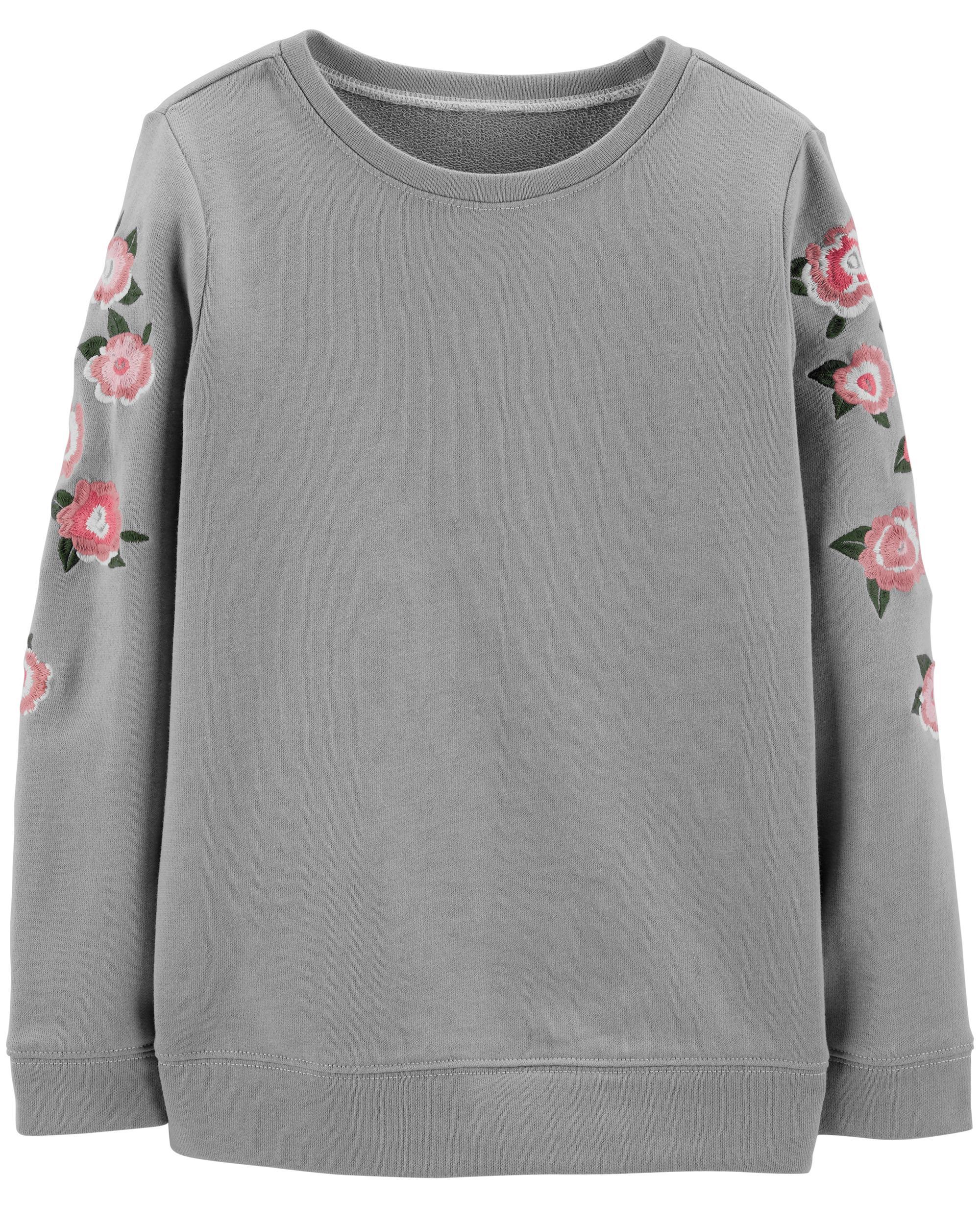 17e9a1c3f9 Embroidered Floral Pullover | oshkosh.com